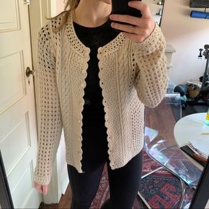 Lucky Brand Wool Pullover Sweater with Buttons (M)